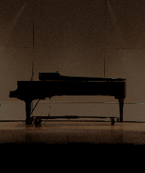 Lone Piano on Stage